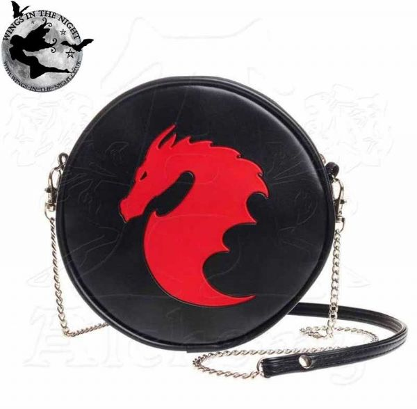 ALCHEMY GOTHIC Dragon Black Shoulder Bag